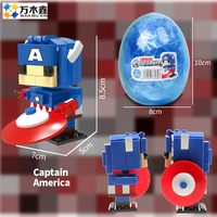 Set of 8 Avengers Heroes Building Blocks with Capsules, Children's Toys, Home Decorations Headz Kid Toys With Legoing