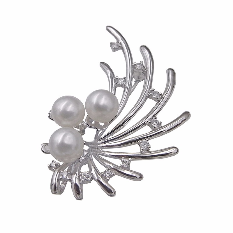 2016 Sinya mother vintage brooch made by 925 sterling silver and genuine freshwater pearl fine jewelry