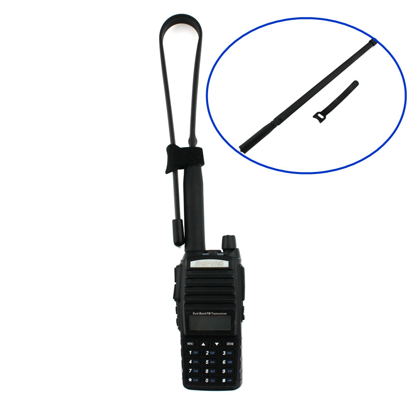 Army Foldable Tactical Dual Band VHF/UHF 144/430MHz Antenna For Baofeng UV-XR UV-9R Plus UV-S9 UV-B3 Radio Walkie Talkie