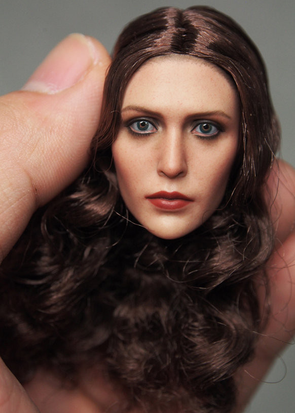 Custom 1/6 Scale Elizabeth Olsen Scarlet Witch Head Sculpt for 12 Action Figure doll Toys soldier model 1 6 scale figure doll troy greece general achilles brad pitt 12 action figures doll collectible figure plastic model toys