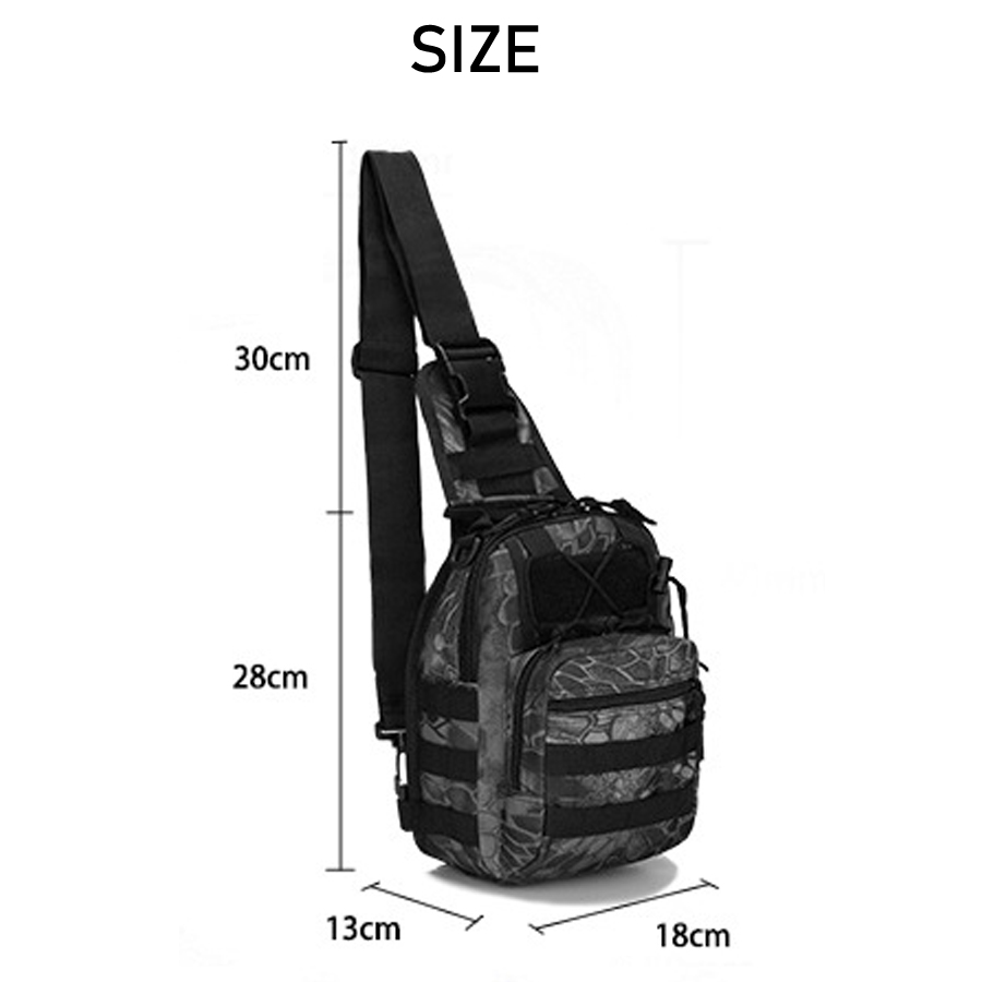 Tactical Bag Shoulder Molle Black (2)