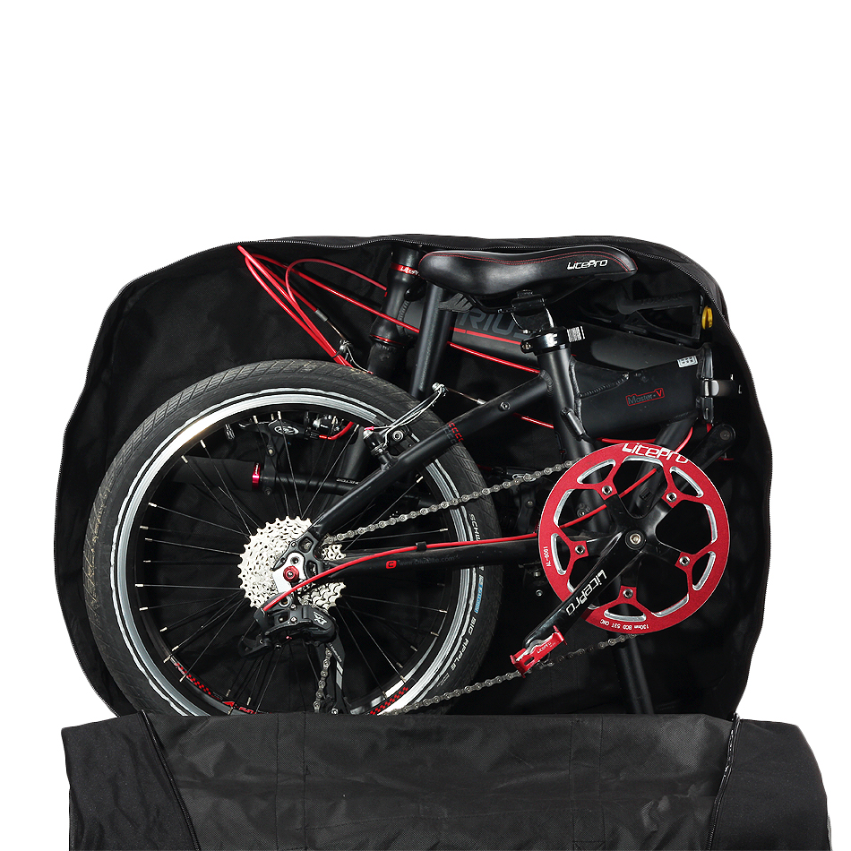 Excellent Rhinowalk 14 inch 20 inch Folding Bike Bag Loading Vehicle Carrying Bag Pouch Packed Car Thickened Portable Bicycle Pack 2