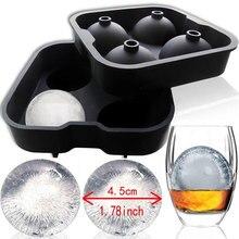 SOLEDI Eiswürfel Maschine Ball Maschine Form Multifunktionale 4 Hohlraum Silikon Ball Cocktail Whisky Ice Cube Form Hohe Qualität Ran