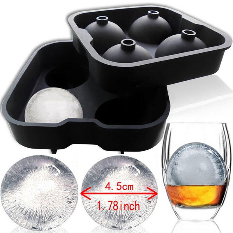 soledi high quality whiskey ice cube round ball maker mold tray for party