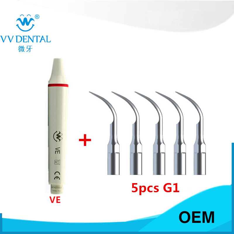 Dental scaling machine ultrasonic scaler handpiece pieza de mano and dental woodpecker tip propina for tooth whitening 1 pcs kaspkg scaler scaling and polishing kit gold tooth scaling polishing kit fit for kavo dental whitening equipment
