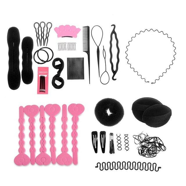 1 Conjunto Mulheres Cabelo Updo Dispositivo Styling Ferramentas Acessórios DIY Kit Salão de Beleza Em Casa