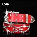 women's strap genuine leather cowhide diamond decoration wide belt fashion all-match Women jeans Rhinestone LEATHER  belt
