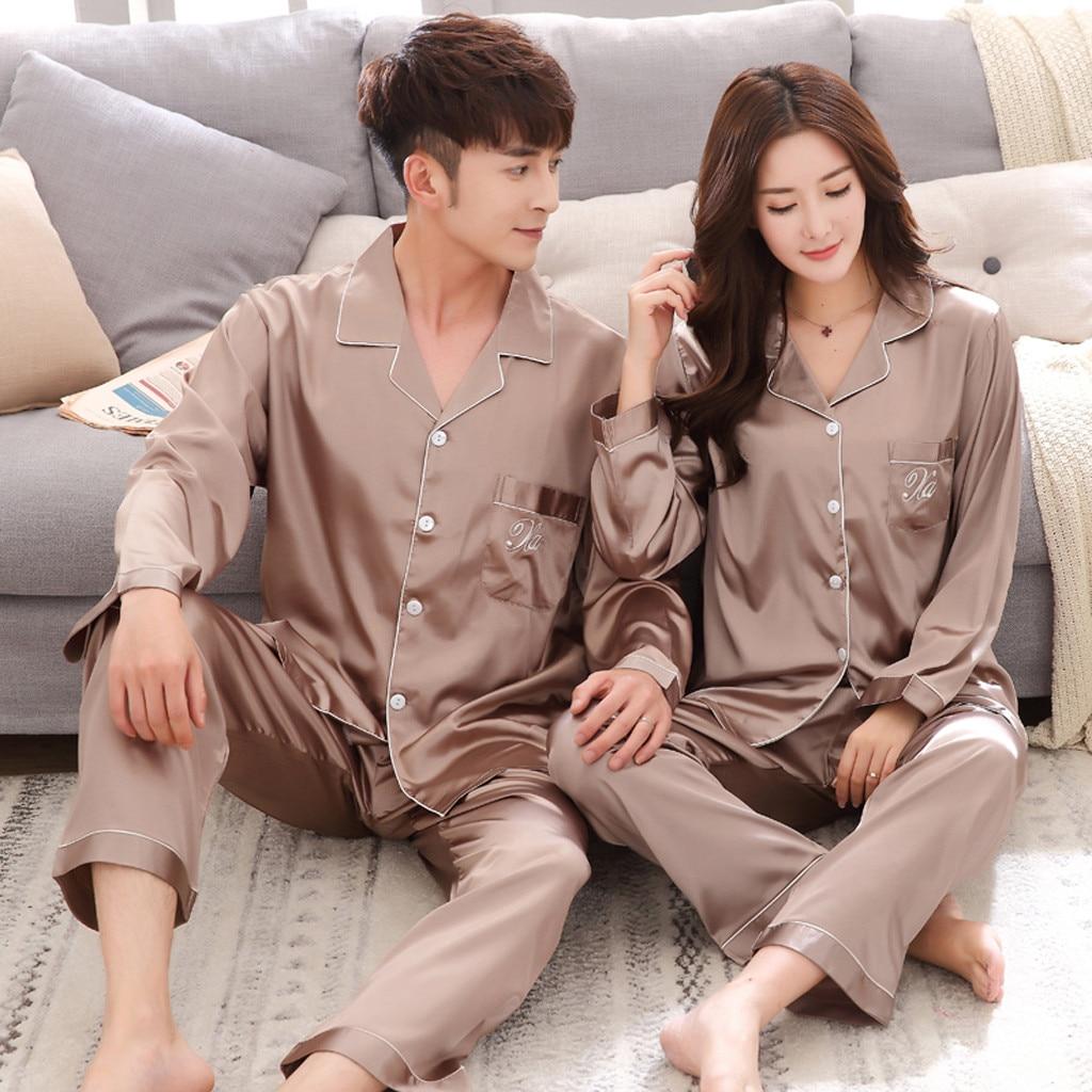 New Silk Men Pajamas High Quality 100% Natural Silk Pajama Pants Sets Long-Sleeved 2-Piece Sleepwear Male Pyjama Jan9