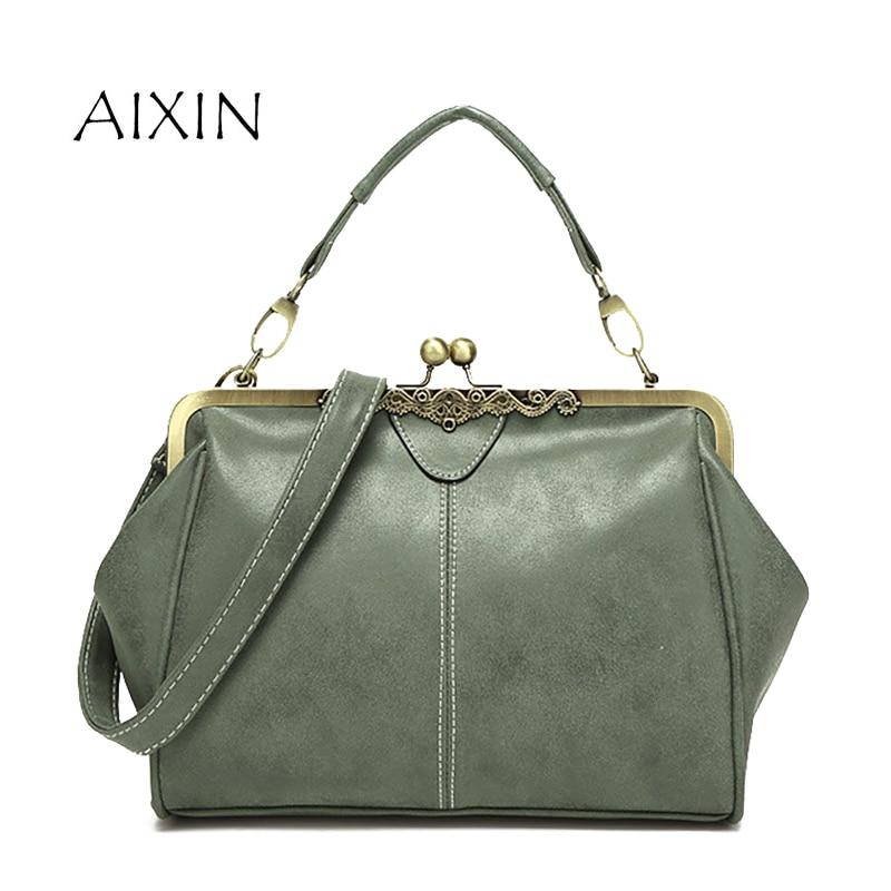 PU Leather Handbag 2017 New Fashion Vintage Shoulder Bags Women Handbags High Quality Scrub Hasp Casual Tote Bag Woman Bolsas