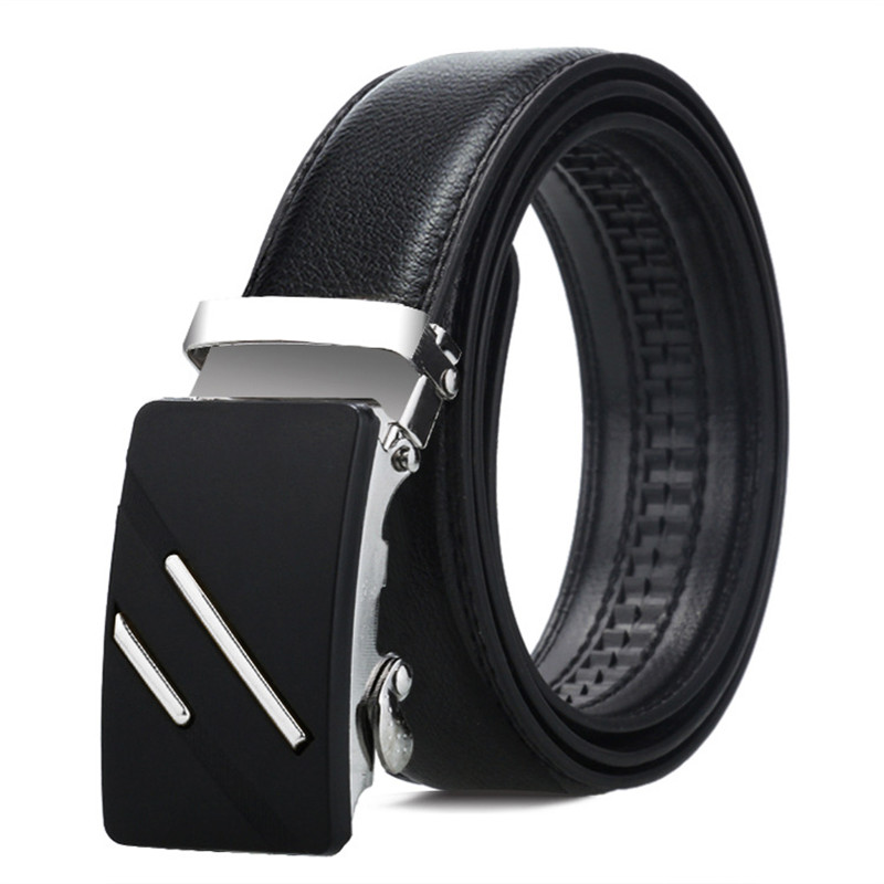 Luxury brand men's   belt   automatic buckle   belt   black face buckle men's casual   belt   explosion models factory direct custom   belt