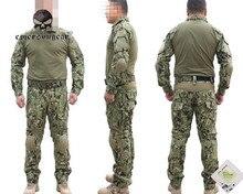 Tactical Army Training Uniform Set Military Combat Uniform Clothing Camouflage Hunting Hiking Clothes Long T Shirt Long Pants