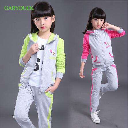 New Girls Sets Spring Autumn Baby Girls Clothes Jacket Casual Sports Hoodies+Pants 2Pcs Sets Suit Children Girls Clothing Sets new girls sets 2018 spring autumn baby