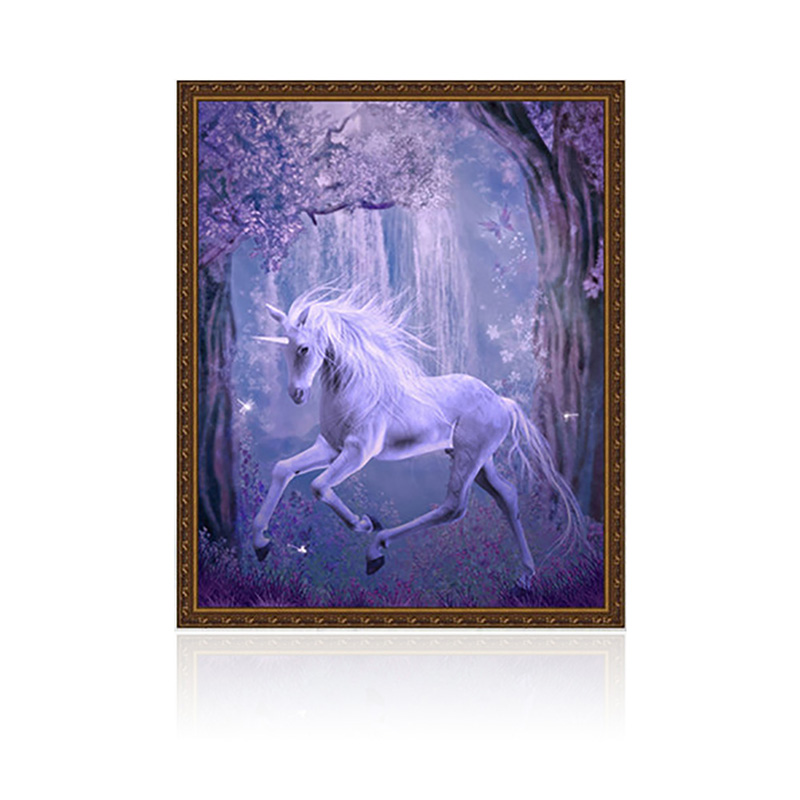 DIY 5D unicorn Diamond Cross Stitch Horse Embroidery Painting Craft Home Decor