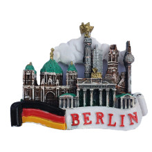 3D Berlin, Germany Attractions Memorial Handmade resin Refrigerator Fridge Magnet Home Decoration Craft Souvenir Collection NEW(China)
