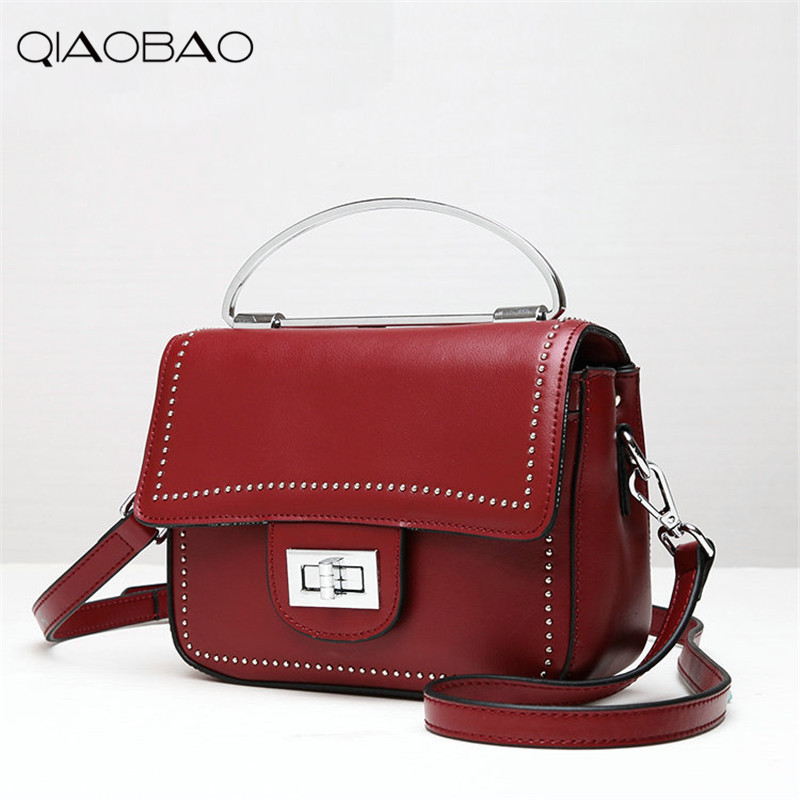 QIAOBAO Women General 100% leather handbags tide Europe fashion first layer of cowhide women bag hand diagonal cross package qiaobao women general genuine leather handbags tide europe fashion first layer of cowhide women bag hand diagonal cross package