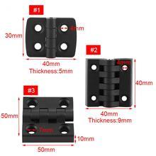 10 peças dobradiças cor preta dobradiça de extremidade de plástico de náilon para caixa de madeira móveis armário elétrico scharnier dobradiças de porta