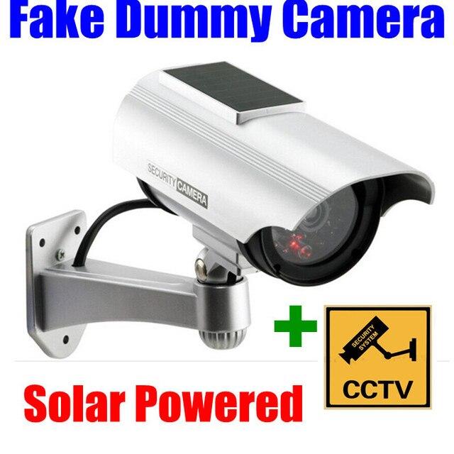 Новый Крытый/Открытый Солнечной энергии Поддельные Пустышка Безопасности Пуля Камера с ИК-Свет Водонепроницаемый оптовая Бесплатная Доставка
