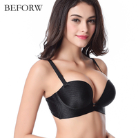 BEFORW Super Push Up Women Bra Sexy Brassiere Underwear Backless Strapless Seamless Bras For Women Sutian