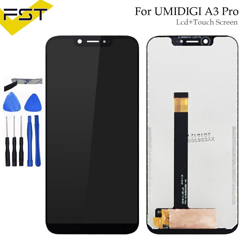 5.7 ''noir pour UMI UMIDIGI A3 Pro LCD affichage et écran tactile numériseur assemblage pièces de réparation + outils pour UMIDIGI A3Pro