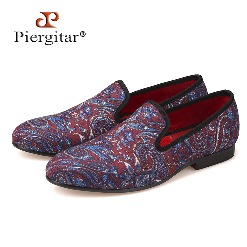 Pierigtar 2018 Mixed colors Stretch Fabric Men Shoes Men Loafers Smoking Slipper Men Flats Size US 4-17 Free Shipping horsehair leopard print suede men shoes men loafers smoking slipper men flats size us 4 17 free shipping