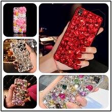 Luxury DIY Diamond Ruby Bling Funda Cases for Samsung Galaxy A50 A70 A10 A20E A40 A51 A71 A90 5G A31 A41 A30S A21S A01 Fundas