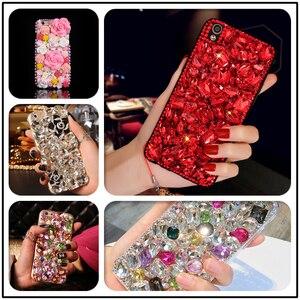 Image 1 - Luxury DIY Diamond Ruby Bling Funda Cases for Samsung Galaxy A50 A70 A10 A20E A40 A51 A71 A90 5G A31 A41 A30S A21S A01 Fundas