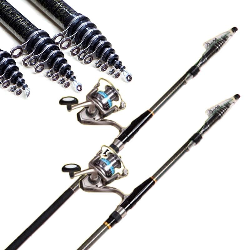 High Carbon Rocky Telescopic Fishing Rod 3.6M-6.3M Casting Rods Fishing Pole Fiber Feeder Carp Rods