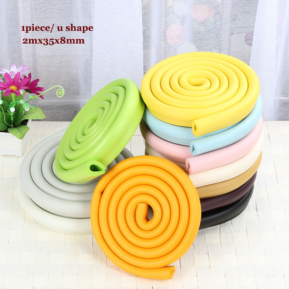 2M L U Style Glass Table Edge Corner Guards Cushion Anticollision Bumper Strip Baby Safety Corner Protector Baby Protection Bar