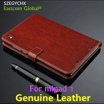 Tablet Case For Xiaomi MiPad 1 Case Genuine Leather Best Quality For Xiao mi Mi Pad 1 Cover + Gift Touchscreen Pen , SZEGYCHX