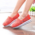 Hot Round Toe Solid Slip On Platform Shoes Women Loafers Sunnmer Autumn Casual Work Shoes Woman's Shoes Female Lace Hollow Flats