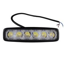 RU STOCK!!! 2PC 18W LED Work Light Bar 6LED Fog Lamp Waterproof White Light Car Light Daytime Running Light Worklight Floodlight