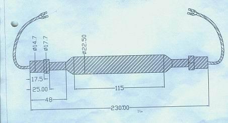 Lampe à mercure haute pression lampe Uv 2kw 230mm