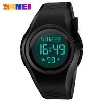 SKMEI Black LED Digital Watch Men Sports Watches Clocks Relojes Waterproof Fashion Outdoor Wristwatches Relogio Masculino