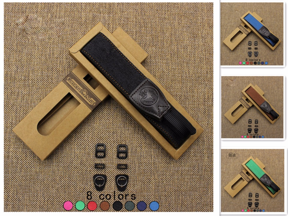 Soft Universal Pure Denim Shoulder Black Belt Flexible Camera Straps for Canon Fuji Nikon Olympus Panasonic Pentax Sony Camera