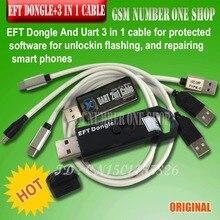 Новинка 2019 100% оригинальная простая прошивка TEMA/EFT ключ + кабель EFT UART 4 в 1