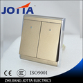 gold color Wall Switch Panel Light Switch 2 Gang 2 Way Push Button 16A,110~250V, 220V  high quality