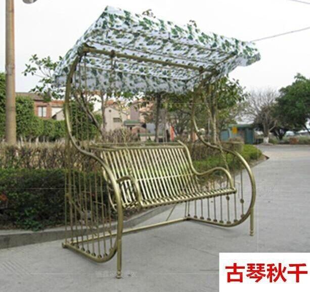 Outdoor Swing Balcony Double Triple Chair Wrought Iron Patio Garden Shaker Basket Lifts