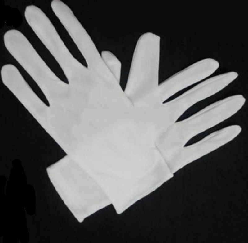 1 ペア手袋白綿ポリエステル化学ラボ衛生手袋使い捨て手袋エレクトロニクス、食品、医療、研究室ツール