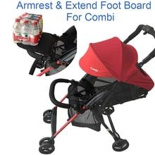 2 เป็น 1 Combi F2 รถเข็นเด็กทารกกันชนด้านหน้าและที่นั่งขยายเท้า