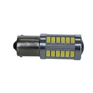 Image 4 - 2 個 Led 電球ライセンスプレートライト 1156 ホワイト 33SMD RV キャンピングカーインテリアランプバックアップリバースライト 1141 1073