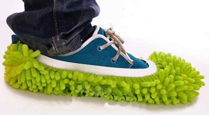 Paños de limpieza multifunción chenilla fundas de zapatos limpia zapatillas perezosas drag shoe caps 1 piezas