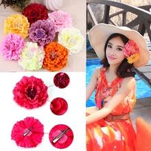 Boho Fashion Women Hair Pins Simulation Flower Headpiece Fascinator Corsage Brooch Vacation Beach