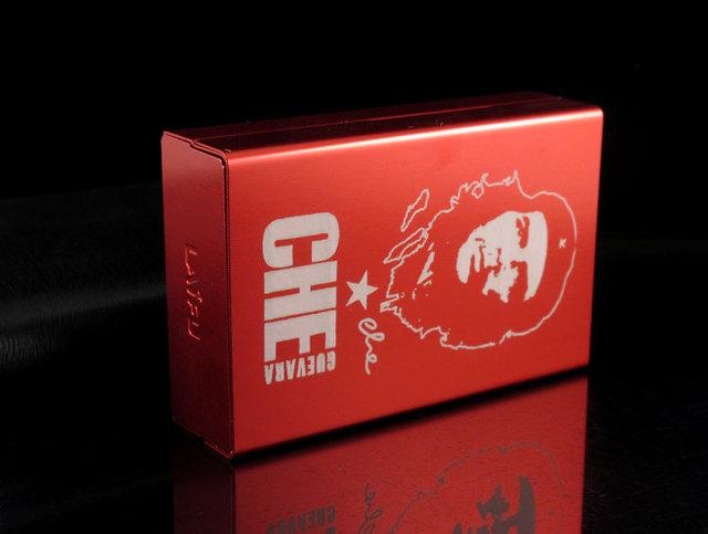 Personalized ultra thin automatic cigarette case Red Che Guevara Laifu brand male metal e cigarettes boxes laser design forever