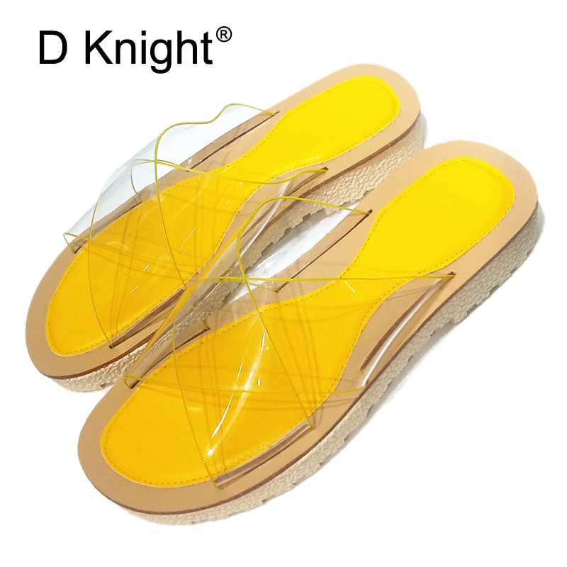 New Women Sandals PVC Crystal Flat Heel Transparent Women Sexy Clear Slippers Summer Lady Sandals Shoes Solid Home Outdoor Slide memory efficient data structure for static huffman tree