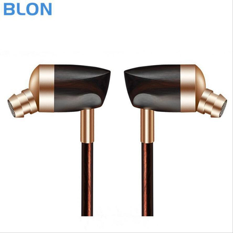 Newest BLON B3 Dynamic and Armature 2 unit Wood Earbuds HIFI Ebony Moving Iron&Coil In Ear Earphone DIY Wooden Headset