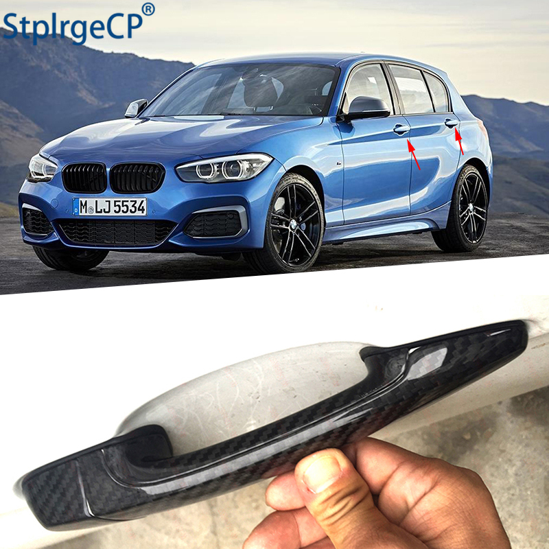 for BMW 1 series E82 E87 F20 F21 2007-2019 Accessories 100% real carbon fiber Auto outer door handle cover image