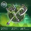 MU Metal 3D Rompecabezas Doom ABISMO Battleaxe YM-N017AB-S Edificio Modelo DIY 3D Ensamblar Juguetes Rompecabezas del Corte del Laser Para la Auditoría