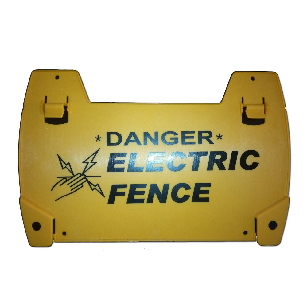 3PCS Danger High Voltage Electric Fence Warning Signs Security Satety Sign