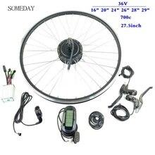 36V 250W велосипеды; комплект для переоборудования сзади кассета мотор для центрального движения с LCD6 дисплей для 16/20/24/26/27,5/28/29 дюймов 700C колеса