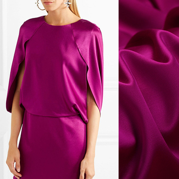 150CM Wide 380G/M Weight Rose Red 60% Silk 40% Wool Spring and Autumn Suit Pants Dress Jacket Fabric E578